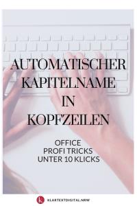Automatischer Kapitelname in Kopfzeilen Word Hacks 2010